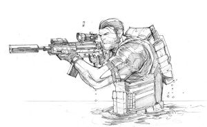 Punisher sketch 2 by Max-Dunbar