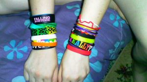 My Multitude of Wristbands by AskTsuki