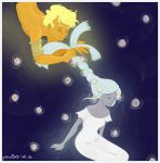 The Sun braiding the Moon's hair by Grouillote-oh