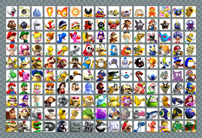 Mario Roster by Cosworth40