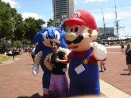 Mario Sonic and ME 8D by Ho-ohLover