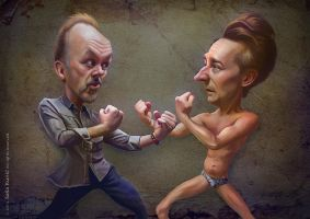 Michael Keaton and Edward Norton - Birdman by SigmaK