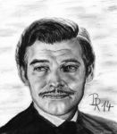 Rhett Butler ( Clark Gable in Gone with the Wind) by LoonaLucy