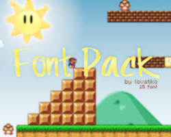 Font Pack by Lovatiko