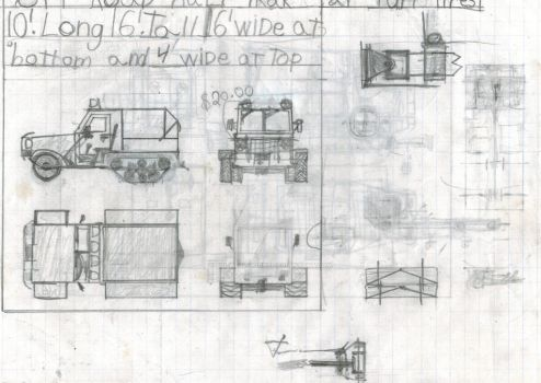 Incomplete design, half track truck. by Sir-Well-Borne