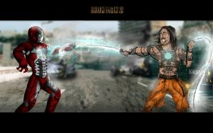 Iron Man Vs Whiplash by nick-tyrrell