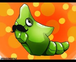 Metapod Moustcahe by Dragonspaz