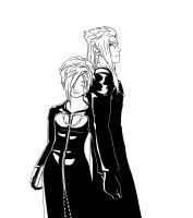 Saix and Zexion INKS by BlindTaleTeller