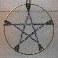 Chainmaile Pentacle by crazed-fangirl