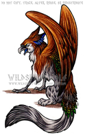 Nathalia Gryphon Commission by WildSpiritWolf