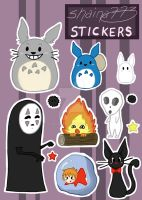 Studio Ghibli Stickers!! :D by shaina773