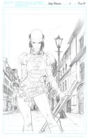 Lady M 0 Cover B pencil Print by joebenitez