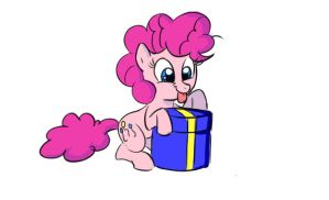 Pinkie filly Present fun by theX-plotion
