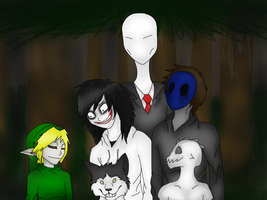 The Creepy Bro Army by annawerewolfartist