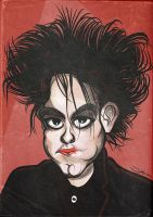 Robert Smith the Cure Caricature by LaserDatsun
