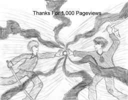 Thanks For 1,000 Pageviews by BlackBeltMaster