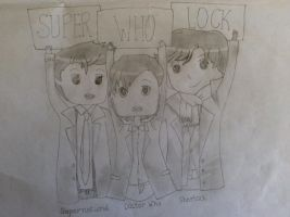 Superwholock sketch by greenmapple17
