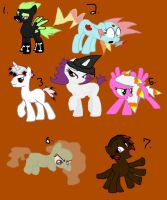 Halloween pony adopts name your price min.5 [OPEN] by Deep-Fried-Love