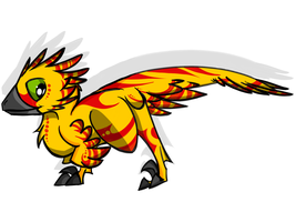Some Yellow and Red by ToxicKittyCat