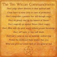The 10 Commandments of Wicca by VampireDragon090