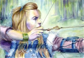 Milva the archer by alenaswan