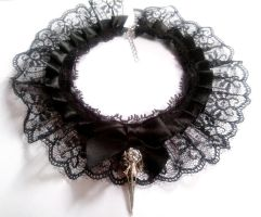 gothic birdskull necklace by GothicLucia