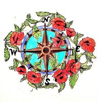compass and poppies4 by speleochick