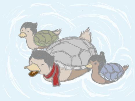 Mama Mako Turtleduck by growabrain