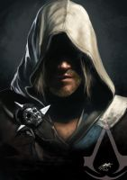 Edward Kenway speedpaint by jodeee