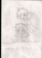 Baby Allen and baby Krad - sketch by SarahShirabuki8000