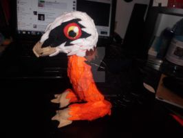 Bearded vulture plushie FINISHED by Mandy-Lou-Plushies