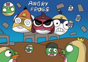 angry frogs by DOR20
