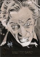 Peter Cushing sketchcard by RobertHack