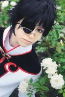 xxxHLC_Watanuki and flowers by SoranoSuzu