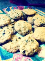 cookies- chocolate chip /w almond by Psycho-anime-rena
