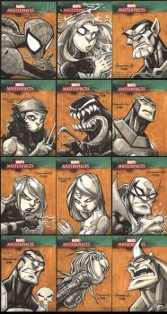 Marvel Masterpiece III cards by Red-J