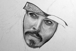 Johnny Depp-Jack Sparrow-WIP 3 by SketchBookStyle