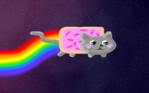 Nyan Cat Desktop Background by Senshisoldier