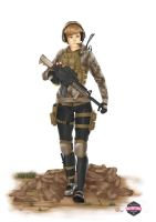 Military Girl II by TheAFN