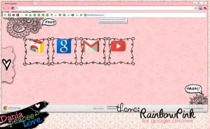 Theme for google chrome:Rainbow Pink by DaniaPeaceeLovee