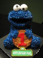 Cookie Monster Cake by Sliceofcake