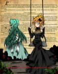 Miku and Rin- Daughter of Evil by Tetra-hime