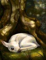 White Fawn by Gryphon-Shifter