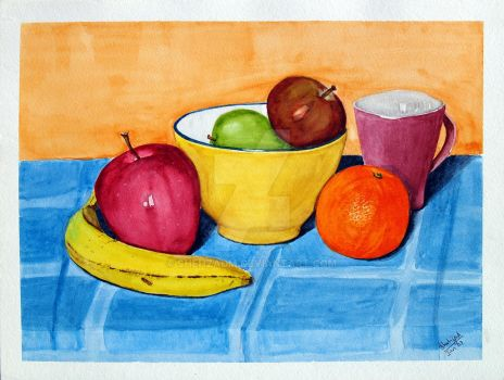 Still-life-02-water-colours by shehzadm