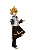 Len Kagamine  Project Diva(not done yet) by aokahatsunechinzapep