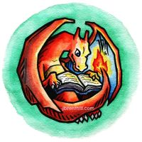 Reading Charizard by jbrenthill