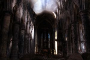 Matte painting - Cathedral post apocalyptic by Luks85