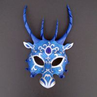 Blue Dragon Mask by merimask