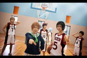 Kuroko no Basket: Seirin Power Line Up by XiaoBai