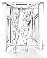 Betty and Veronica Shower by markanthonylo